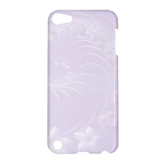 Pastel Violet Abstract Flowers Apple iPod Touch 5 Hardshell Case