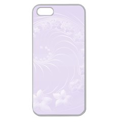 Pastel Violet Abstract Flowers Apple Seamless Iphone 5 Case (clear)
