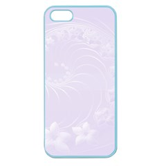 Pastel Violet Abstract Flowers Apple Seamless Iphone 5 Case (color)
