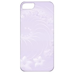 Pastel Violet Abstract Flowers Apple iPhone 5 Classic Hardshell Case