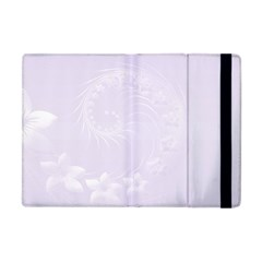 Pastel Violet Abstract Flowers Apple Ipad Mini Flip Case