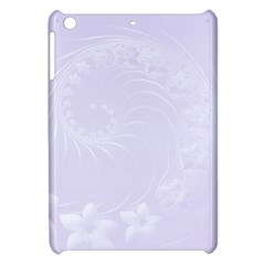 Pastel Violet Abstract Flowers Apple iPad Mini Hardshell Case