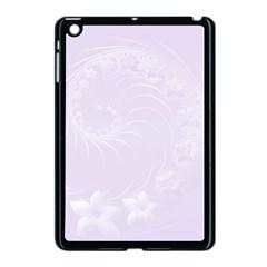 Pastel Violet Abstract Flowers Apple iPad Mini Case (Black)