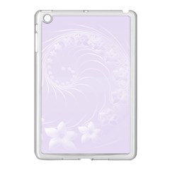 Pastel Violet Abstract Flowers Apple Ipad Mini Case (white)