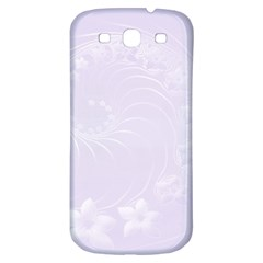 Pastel Violet Abstract Flowers Samsung Galaxy S3 S III Classic Hardshell Back Case