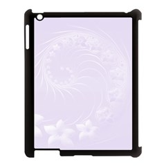 Pastel Violet Abstract Flowers Apple iPad 3/4 Case (Black)