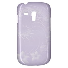 Pastel Violet Abstract Flowers Samsung Galaxy S3 MINI I8190 Hardshell Case