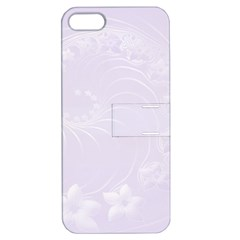 Pastel Violet Abstract Flowers Apple Iphone 5 Hardshell Case With Stand