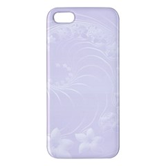 Pastel Violet Abstract Flowers Iphone 5 Premium Hardshell Case