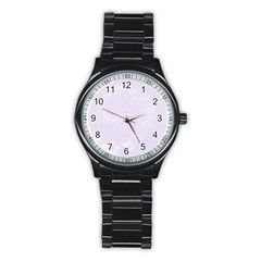 Pastel Violet Abstract Flowers Sport Metal Watch (Black)