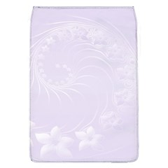 Pastel Violet Abstract Flowers Removable Flap Cover (Large)