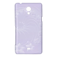 Pastel Violet Abstract Flowers Sony Xperia T Hardshell Case
