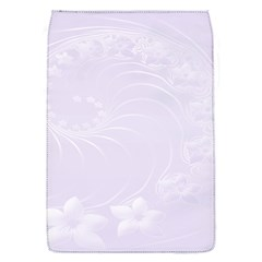 Pastel Violet Abstract Flowers Removable Flap Cover (Small)