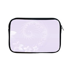 Pastel Violet Abstract Flowers Apple Ipad Mini Zipper Case