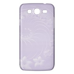 Pastel Violet Abstract Flowers Samsung Galaxy Mega 5.8 I9152 Hardshell Case