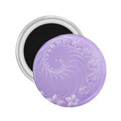 Light Violet Abstract Flowers 2 25  Button Magnet