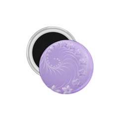Light Violet Abstract Flowers 1 75  Button Magnet