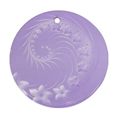 Light Violet Abstract Flowers Round Ornament