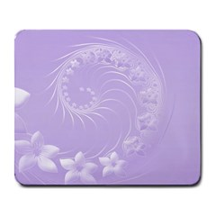 Light Violet Abstract Flowers Large Mouse Pad (Rectangle)