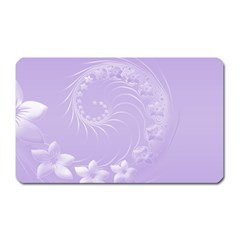 Light Violet Abstract Flowers Magnet (rectangular)