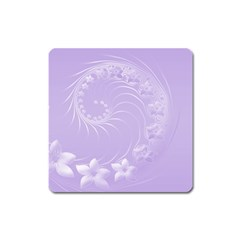 Light Violet Abstract Flowers Magnet (square)