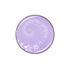 Light Violet Abstract Flowers Golf Ball Marker (for Hat Clip)
