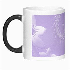 Light Violet Abstract Flowers Morph Mug