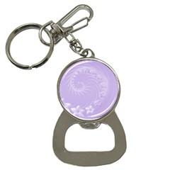 Light Violet Abstract Flowers Bottle Opener Key Chain
