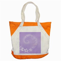Light Violet Abstract Flowers Accent Tote Bag