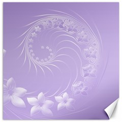 Light Violet Abstract Flowers Canvas 12  X 12  (unframed)
