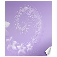 Light Violet Abstract Flowers Canvas 20  x 24  (Unframed)