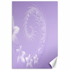 Light Violet Abstract Flowers Canvas 20  X 30  (unframed)