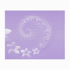 Light Violet Abstract Flowers Glasses Cloth (small, Two Sided)