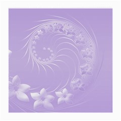 Light Violet Abstract Flowers Glasses Cloth (Medium)
