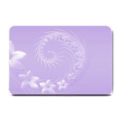 Light Violet Abstract Flowers Small Door Mat