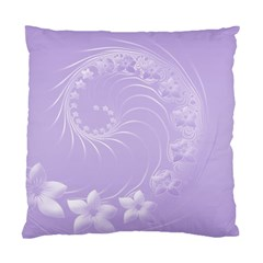 Light Violet Abstract Flowers Cushion Case (one Side)