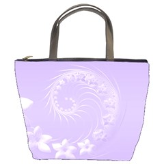 Light Violet Abstract Flowers Bucket Bag
