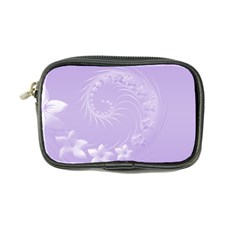 Light Violet Abstract Flowers Coin Purse