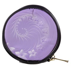 Light Violet Abstract Flowers Mini Makeup Case