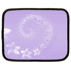 Light Violet Abstract Flowers Netbook Case (xl)