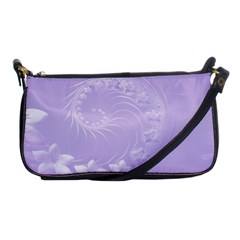 Light Violet Abstract Flowers Evening Bag