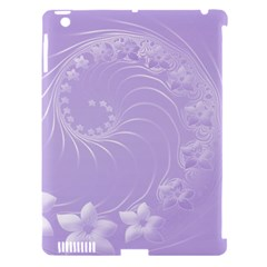Light Violet Abstract Flowers Apple Ipad 3/4 Hardshell Case (compatible With Smart Cover)