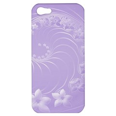 Light Violet Abstract Flowers Apple iPhone 5 Hardshell Case