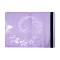 Light Violet Abstract Flowers Apple Ipad Mini Flip Case