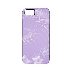 Light Violet Abstract Flowers Apple Iphone 5 Classic Hardshell Case (pc+silicone)