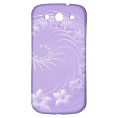 Light Violet Abstract Flowers Samsung Galaxy S3 S III Classic Hardshell Back Case