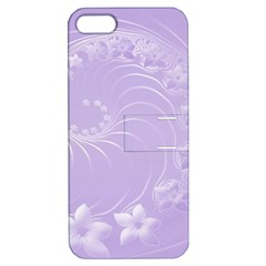 Light Violet Abstract Flowers Apple iPhone 5 Hardshell Case with Stand