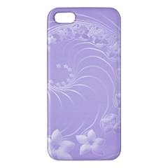 Light Violet Abstract Flowers Iphone 5 Premium Hardshell Case