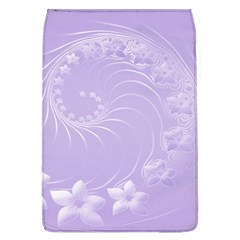 Light Violet Abstract Flowers Removable Flap Cover (Large)