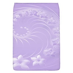 Light Violet Abstract Flowers Removable Flap Cover (Small)